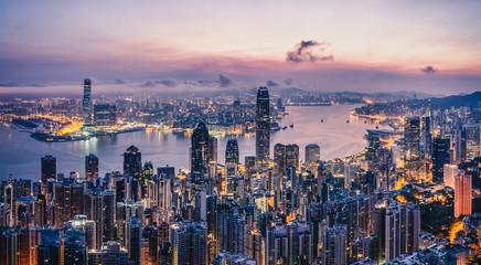 Sunrise over Hong Kong