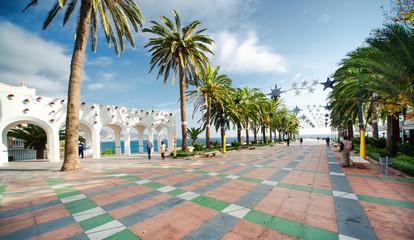 Balcon de Europa square in Nerja. Costa del Sol, Spain