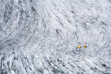 Zelte auf dem Rhonegletscher