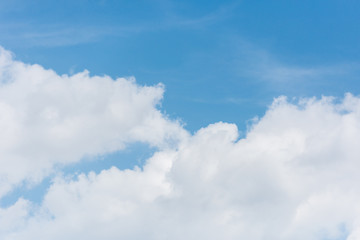 full frame image of bright blue sky with clouds background