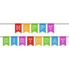 Happy birthday sign.