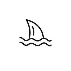 Shark line icon. Fin, danger, predator. Sea life concept. Can be used for topics like swimming, warning, ocean life