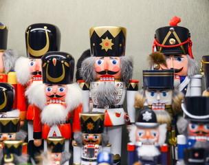 Traditional woodenc christmas souvenir nutcrackers. Belgium
