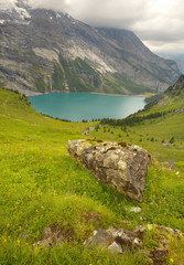 Glacial lake of Oeschinensee, Swiss Alps