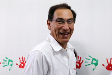 Peru's President Martin Vizcarra poses for a picture during the inauguration of a mental hospital in Pucallpa