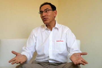 Peru's President Martin Vizcarra speaks during an interview with Reuters in Pucallpa