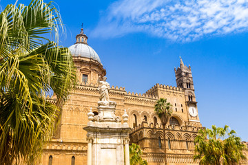 Palermo Cathedral in Sicily, southern Italy