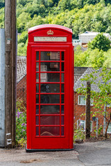 Traditional red Telephone box, Wales, UK