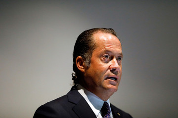 Chairman of the Board of Banesco Bank, Juan Carlos Escotet, talks to the media during a news conference in Caracas