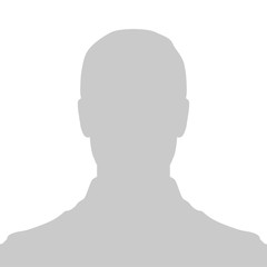 Profile Placeholder image. Gray silhouette no photo