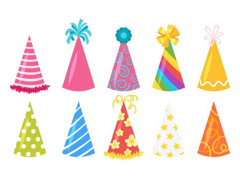 festive cone hats set