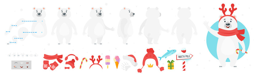 polar bear character for animation