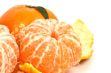 Colorful of Many Clementine on white background.