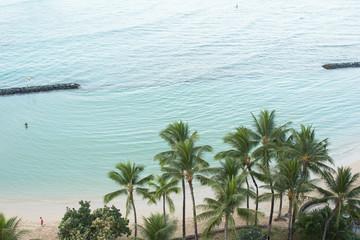 Beach and ocean in Oahu, Hawaii