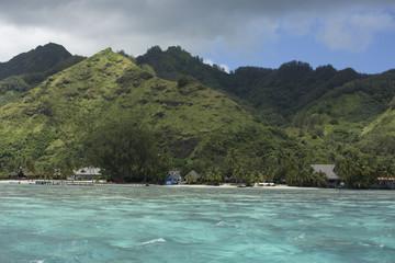 Turquoise tropical lagoon