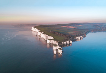 Foto op Plexiglas Grijs Old Harry Rocks a Natural Chalk Coastal Feature of England