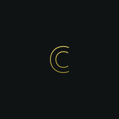 Modern creative elegant O black and gold color initial based letter icon logo