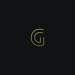 Modern creative elegant G black and gold color initial based letter icon logo