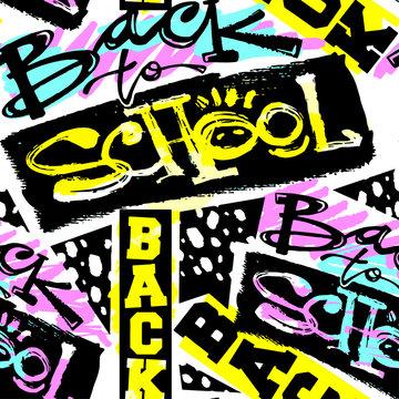 Back school seamless pattern