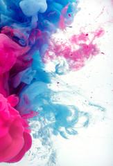 ink colors in water splash