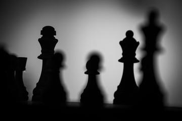 Silhouette eines Schachspiels