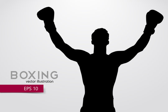 Boxing silhouette. Boxing. Vector illustration