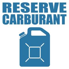 Logo réserve carburant.