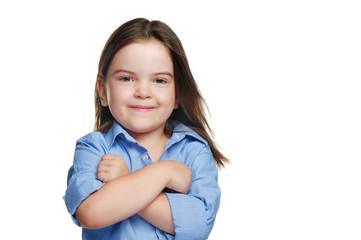Pretty little girl in a confident pose