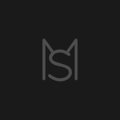 Unique modern trendy MS grey color initial based icon logo.