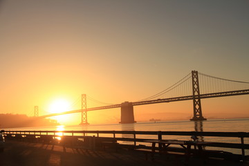 Sunrise at Bay Bridge, San Francisco