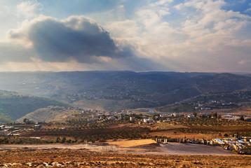 Israeli sunset landscape