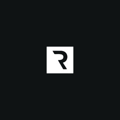 Modern unique minimal style R initial based letter icon logo.