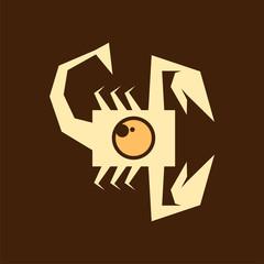 Scorpion with camera logo icon vector