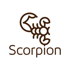 Line art scorpion logo icon vector template