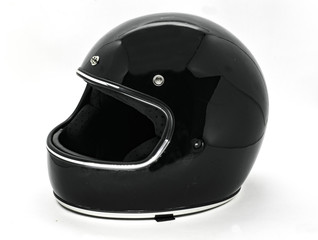 Safety classic motorcycle helmet isolated