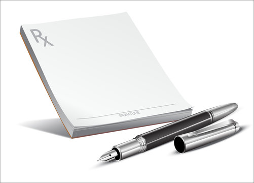 doctors rx prescription pad fountain pen - Elegant Writing Instruments