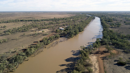 The Paroo river at Cunnamulla Queensland, Australia.