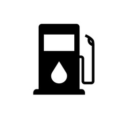 gas or oil pump vector icon isolated on white background. icon illustration flat EPS.