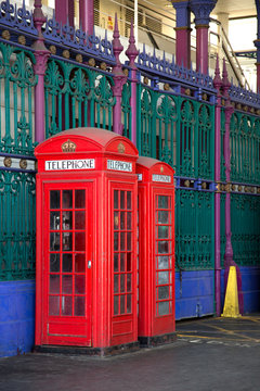 Red english phone booths