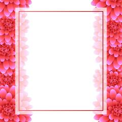 Pink Dahlia Banner Card Border Style 2