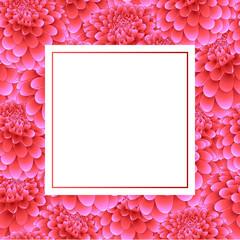 Pink Dahlia Banner Card