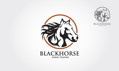 Logo vector images of horse design on a white background