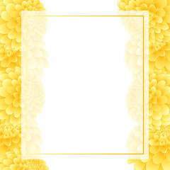 Yellow Dahlia Banner Card Border