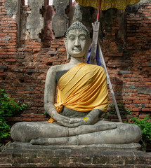 ฺBuddha in Ayutthaya of Thailand