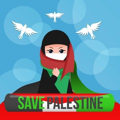 Save palestine illustration