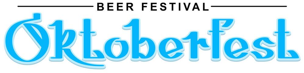 Beer Festival Oktoberfest hand writing calligraphy text
