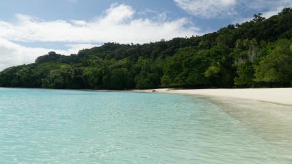 Wonderful Champagne beach in Espiritu Santo, Vanuatu