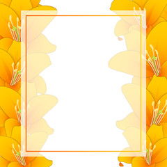Orange Lily Banner Card Border
