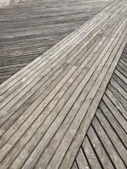 Diagonal wood on the Coney Island Boardwalk