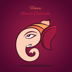happy ganesh chaturthi festival poster design